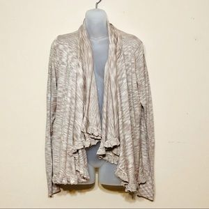 One A Mojave sweater/cardigan with ruffles